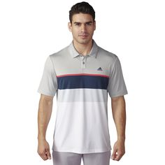 52237726fa Adidas Golf Shirts Engineered Striped Polo Mens Golf Outfit