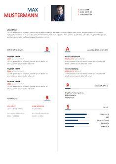 Vorlage Lebenslauf 2016 - maritim, Design Muster                                                                                                                                                                                 More