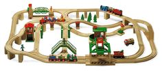 "Brio Train Raised 4-way Layout - Estimated Track... STRAIGHTS: 3-4"", 3-6"", 2-8"", CURVES: 12-3.5"", 15-6"", SWITCHES: T-Switch MMF & FFM, 4-way Intersection, 3.5"" C/ST MMF, V-switch FFM, Adapters 1 male, 1 female, 7 Ascenders, SUPPORTS: 7 blocks, 3 rocks, 3 red stacking track supports, 3 green brio stacking supports, 6"" Bridge, 6"" level 2 Station, 8"" 2-rail Brio Central Station (or 2-8"" straights)"