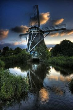 Windmill at the Amstelpark, Amsterdam, Netherlands