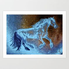 Grace The Muse Art Print by Michelle Rene Goodhew - $22.88  I was inspired by a woman named Jenny from Australia to paint this beautiful image of a galloping horse. I loved creating this one :-)   Jenny loved it so much she allowed me the honor of naming her newborn philly! So I named her 'Grace', after the graces who were the three daughters of Zeus in Greek mythology. The graces were muses, and inspired artists like me, and still do maybe ;-)