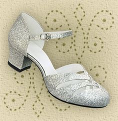 Silver dancing shoes.
