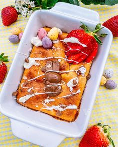 """🌸Jess🌸 on Instagram: """"🐰BUNNY BAKED OATS!🐰 Happy Easter everyone! What better way to start the day than baked oats! ⭐️9 Syns!⭐️ 💛500 kcals💛 • • • • You can find…"""" Slimming World Breakfast, Happy Easter Everyone, Baked Oats, Vegetarian Breakfast, Start The Day, Waffles, Food Porn, Bunny, Canning"""