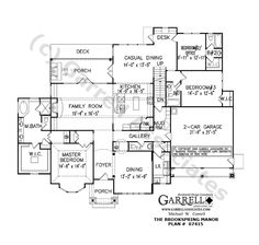 Brookspring Manor House Plan # 07415, 1st Floor Plan, Ranch Style House Plans, Traditional Style House Plans, Wheelchair Accessible House Plans