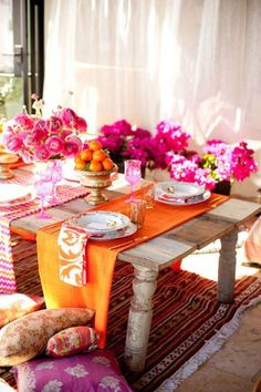 Best Tips For A Perfect Coffee Table Styling To Living Room 19 – Home Design Diy 2019, Party Fiesta, Orange Table, Pink Table, Coffee Table Styling, Moroccan Decor, Moroccan Style, Moroccan Party, Moroccan Wedding