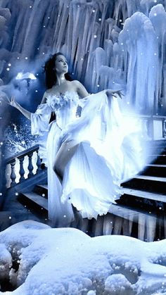 ❄ A MidWinter's Night's Dream ❄... GIF... By Artist Unknown...