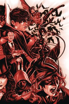 """rockin-robinz: """"Batman Family in Red It seems that the variant covers for Detective Comics and by Mark Brooks could be connected. It is one of the better Batman Family potraits in recent. Online Comic Books, Dc Comic Books, Comic Art, Comic Book List, Comic Book Covers, Batman Universe, Comics Universe, Cosmic Comics, Batman Detective Comics"""