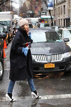 Street style - New York Fashion Week, Feb 2013