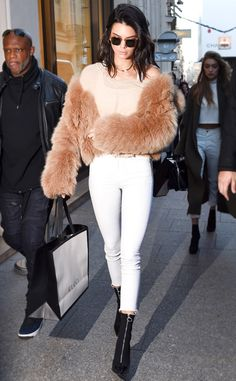 Kendall Jenner from Victoria's Secret Models Off-Duty Style A little fur will get you far.