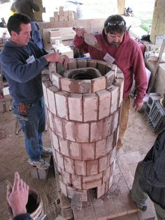 Rocket stove done in masonry