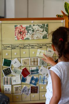 Reggio Kindergarten child-made calendar | Our PlayHouse Preschool and Kindergarten, Chapel Hill, NC  www.ourplayhousepreschool.com