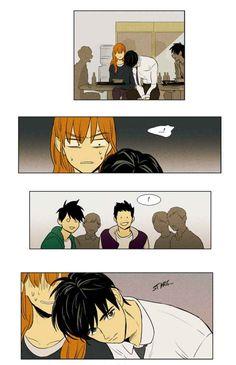Manhwa Manga, Manga Anime, Anime Art, Cheese In The Trap Webtoon, T Wallpaper, Webtoon Comics, Manga To Read, Storyboard, Cute Couples