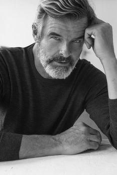 Moustaches, Best Hairstyles For Older Men, Silver Foxes Men, Rafael Miller, Grey Hair Men, Men Over 50, Handsome Older Men, Fox Man, Grey Beards
