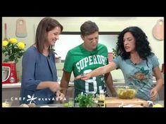 Chef στον αέρα   Πατατοσαλάτα με λουκάνι - 06/10/2015 Recipes, Salads, Recipies, Recipe