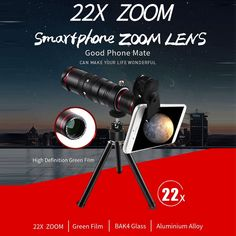 💫Stars at the reach of your hand🪐 🔭 MOBILE TELEPHOTO LENS 22x Super Zoom | Green film | BAK4 Glass | Aluminium alloy body Check it now 👉 #Chinavasion #coolgadgets #telescope #phoneaccessories #astronomy #astrophotography Glass And Aluminium, Aluminium Alloy, Cool Electronic Gadgets, Phone Lens, Gadget Shop, Flip Phones, Back Camera, Types Of Cameras, Phone Photography