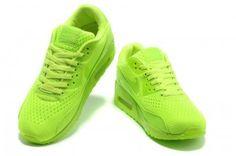 newest 43486 7c320 Nike Sauf Air Max 90 Herren Schuhe Premium EM Ganz Fluorescent Grün Air Max  1,