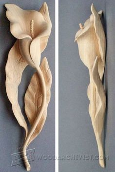 1316-Carving Lily - Wood Carving Patterns