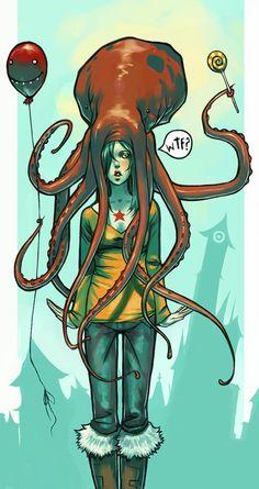 tentacle hat girl