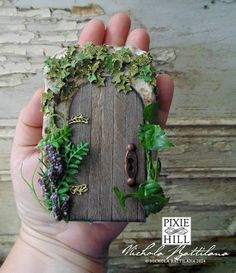 """""""The Secret Garden"""" Altered Altoid tin ~ adorable!! Would love to build a fairy garden for my twins."""