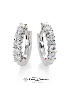 Diamond & White Gold Mini Hoop - Zoom - Saks Fifth Avenue Mobile White Gold Hoops, Synthetic Ruby, Mini Hoop Earrings, Roberto Coin, Jewelry Necklaces, Wedding Rings, Engagement Rings, Gemstones, Classic