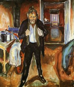 Munch Self Portrait | Self-Portrait (in distress) by Edvard Munch