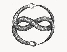 "mysteryinthepsyche: "" ""The alchemists, who in their own way knew more about the nature of the individuation process than we moderns do, expressed this paradox through the symbol of theOuroboros, the snake that eats its own tail. The Ouroboros has. Wolf Tattoos, Finger Tattoos, Body Art Tattoos, Tatoos, Diy Tattoo, Oroboros Tattoo, Mandala Design, Dotwork Tattoo Mandala, Auryn"