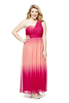 Bee Darlin Beaded Ombré One-Shoulder Long Dress, $66.99, jcpenney.com   - Seventeen.com