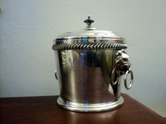 Amazing vintage silver ice bucket lions by valeriesvintagehome, $168.00