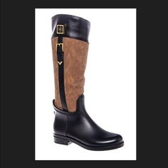 3e6df29dd317 DAV Coventry rain boots Beautifully made DAV Black and sable rain boots DAV  Shoes Winter   Rain Boots