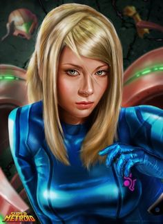 Samus - Super Metroid by Robert James Bartling