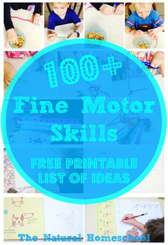 100+ Fine Motor Skills for Toddlers (Free Printable List)