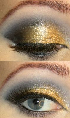 Black and Gold Glamour Makeup