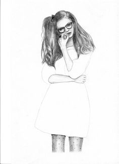 Fashion illustration 1 A4 Sized - The Sketchbook Artist - Kim Jenkins