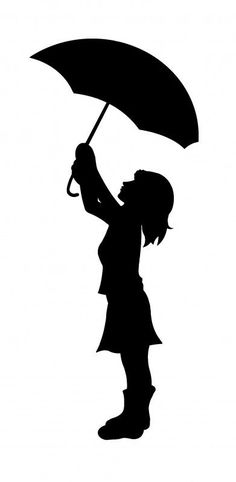 This silhouette would be perfect for a crayon art project . . . for a little girl's room