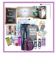 """""""Back to school"""" by andreakaypin on Polyvore featuring PBteen, Incipio, American Eagle Outfitters, Private Party, High Sierra, Boohoo, Converse, Silver Expressions by LArocks, Embark and CamelBak"""