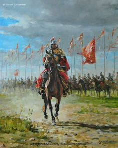 Polish Winged Hussar preparing to charge Military Art, Military History, League Of Angels, Historical Art, Knights Templar, Modern Warfare, Medieval Fantasy, Fiction, Total War
