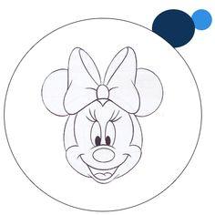 Molde rosto Minnie e Mickey - Imagui
