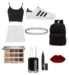 """""""Megs second set """" by rhysxevans ❤ liked on Polyvore featuring Topshop, Vans, adidas, Essie, tarte, women's clothing, women, female, woman and misses"""