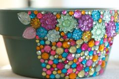 Jeweled Spring Container | Lush Little Landscapes « How to Make Miniature Fairy Gardens for Centerpieces, Gifts