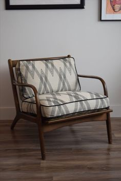 Mid Century Modern Upholstered Arm Chair On Chairish.com