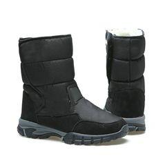 2018 Males Boots Black Winter Footwear Male Snowboots Massive Measurement  48 Heat Fur Rubber Robust Outsole Buckle New Man Model Free Transport 775d8968a9725