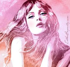 Watercolor Mixed Media Fashion Illustration Giclée - Esther Bayer