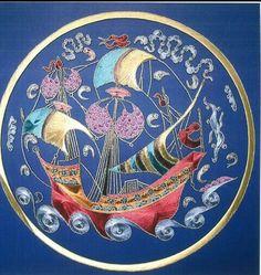 . Oriental, Gods Eye, Sun Moon Stars, String Art, Islamic Art, Sailing, Miniatures, Design Inspiration, Ceramics