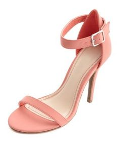 b2a6fdc343f8 Nubuck Single Sole Ankle Strap Heels  Charlotte Russe -- I keep seeing  everybody with this style shoe