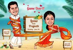 The cards will then be crafted based on the specific needs of the couples. Finding creative caricature wedding cards online is not a herculean task anymore. Many sites provide pre-designed cards that can be customized to suit individual requirements. Indian Wedding Invitation Cards, Creative Wedding Invitations, Indian Wedding Invitations, Wedding Invitation Templates, Invitation Ideas, Scroll Invitation, Invitation Design, Engagement Invitation Cards, Marriage Invitation Card