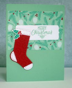 Hang Your Stockings -Stampin' Up! a fun and bright Card for Christmas