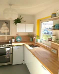 I've been asked by quite a few people for more details on the yellow window surrounds in my kitchen, so I thought I'd revisit them today and elaborate for you. We don't hav…