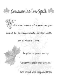 Communication Spell