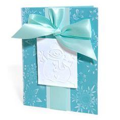 Embossed Snowman & Snowflakes Card