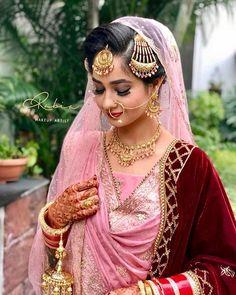 Winter mornings and bridal dates ❤️ Beautiful Harleen… Sikh Wedding Dress, Pakistani Wedding Outfits, Wedding Girl, Bridal Outfits, Wedding Suits, Wedding Bride, Bridal Suits Punjabi, Punjabi Bride, Indian Bridal Wear